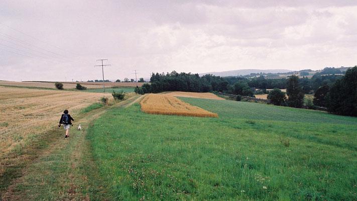 Kurz vor Schwarzenbach a. d. Saale