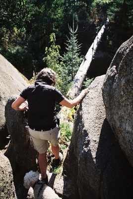 Im Felsenlabyrinth, auf dem Weg zur Mariannenhöhe
