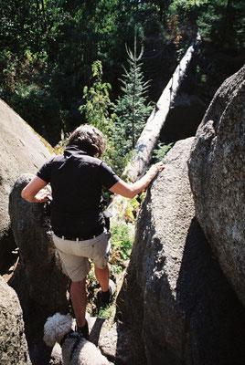 Im Felsenlabyrinth – auf dem Weg zur »Mariannenhöhe«
