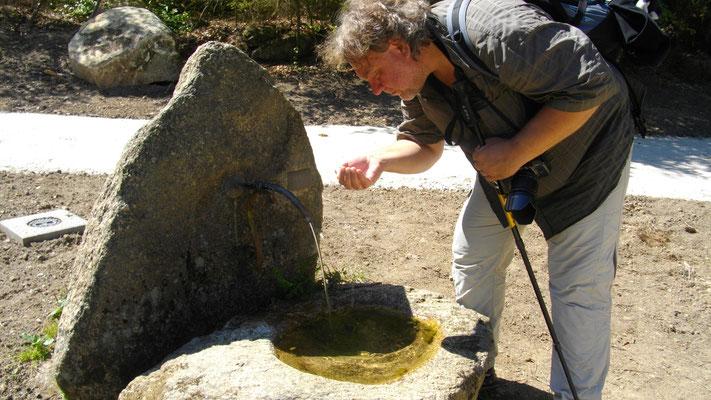 Kleine Quelle auf dem Weg zur Luisenburg