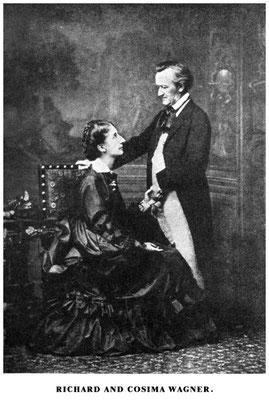 Richard und Cosima Wagner (1872) – Foto von Fritz Luckardt