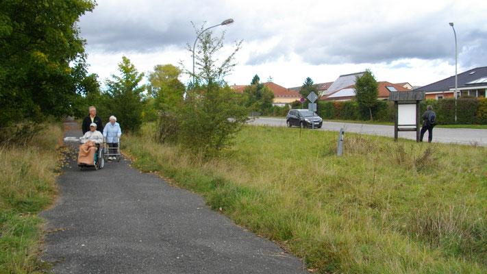 Radweg neben der Panzerstraße am Bindlacher Berg