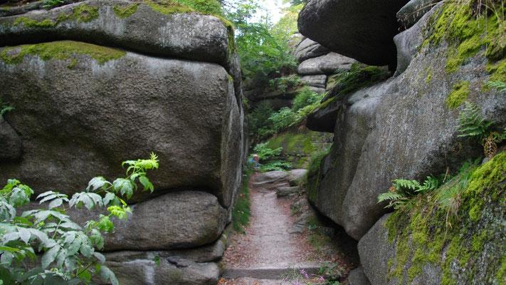 Am Großen Waldstein, Felsformationen