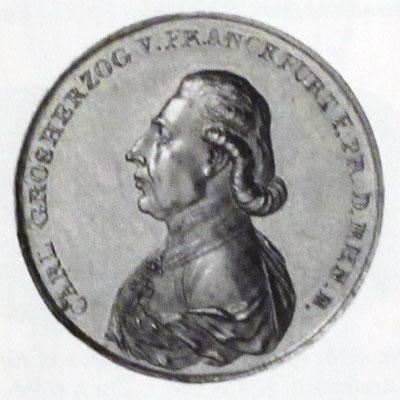10 Dukaten (1810) anlässlich zur Ernennung Dalbergs zum Großherzog von Frankfurt