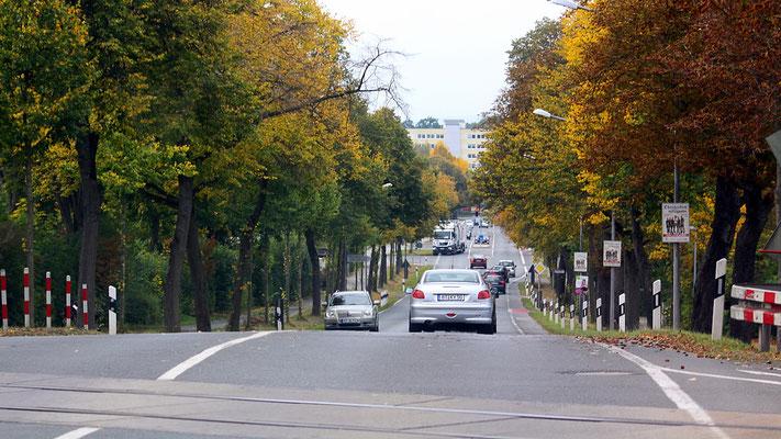 Blick von der Königsallee abwärts auf Bayreuth