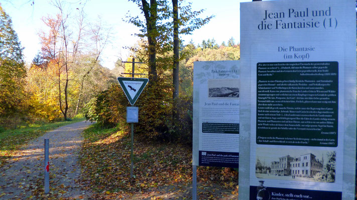 Auf dem Jean-Paul-Weg am Talweg zum Schloss Fantaisie – Groß- und Sonderstation 133 »Jean Paul und die Fantaisie (1)«