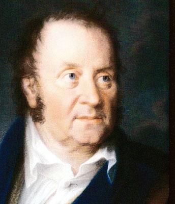 Jean Paul im Alter von 60 Jahren – Pastellbild von Johann Lorenz Kreul