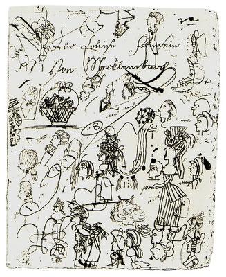 Blatt mit Kritzeleien Luises um 1795