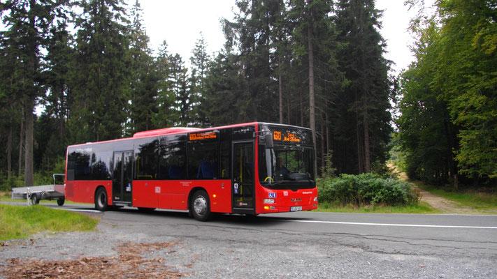 Mit dem Bus vom Großen Waldstein nach Sparneck