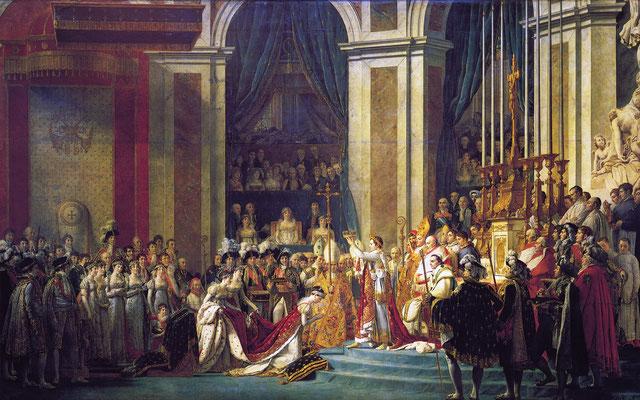 Die Krönung in Notre Dame 1804 – Gemälde von Jacques-Louis David 1806–1807