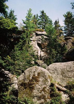 Die Granitfelsformation des Weißmainfelsen