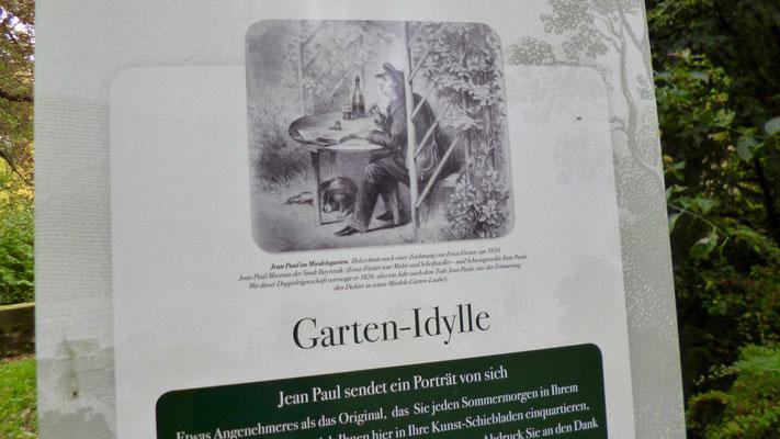 Auf dem Jean-Paul-Weg in Bayreuth – Groß- und Sonderstation 117  »Garten-Idylle«
