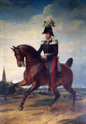 Reiterporträt Friedrich Wilhelms III. – Ölgemälde von Franz Krüger 1831