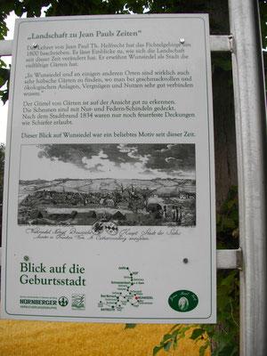 Auf dem Jean-Paul-Weg, 4. Tafel »Landschaft zu Jean Pauls Zeiten – Blick auf die Geburtsstadt«