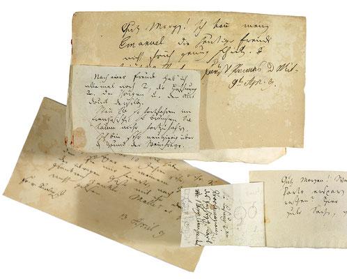 Briefe und Billets (kleine Briefchen oder Zettel) Jean Pauls an Emanuel Osmund aus dem Jahr 1809 – Staatsbibliothek Bamberg