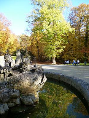 Ausruhen am Neptunbrunnen