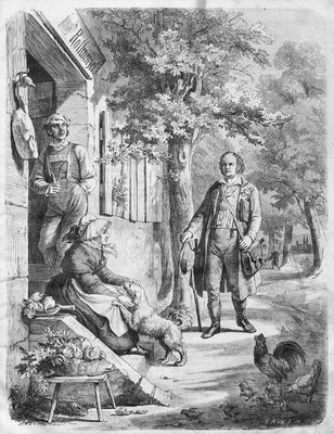 Jean Paul auf dem Wege nach der Rollwenzelei – Theobald von Hoer 1863