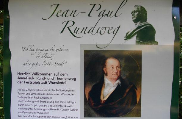 Der Jean-Paul-Rundweg in Wunsiedel
