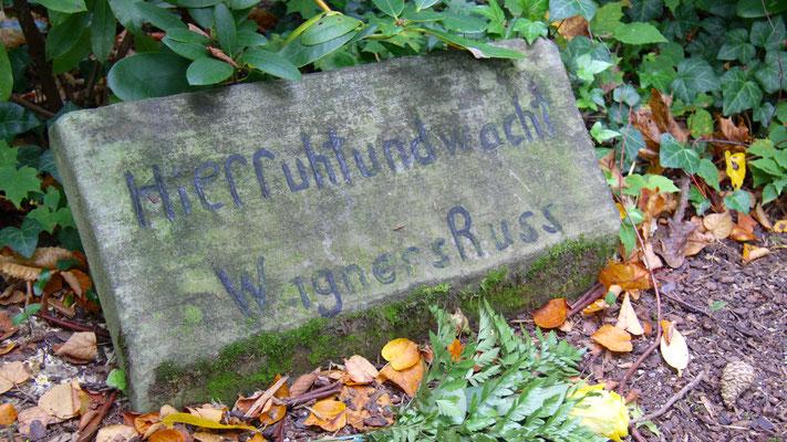 Grab von Wagners Hund Russ