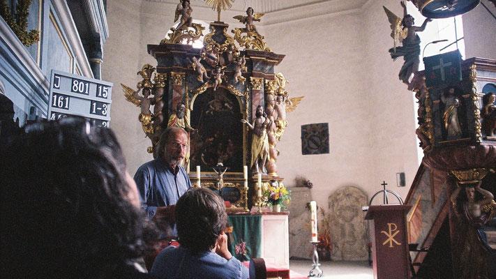 Eberhard Schmidt in der Joditzer Kirche