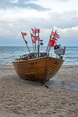 Altes Fischerboot in Binz
