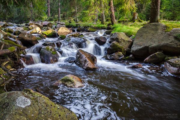 Schwarzwasser in der Nähe von Potůčky