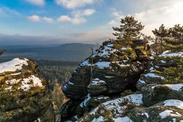 Wintererstimmung auf dem Pfaffenstein