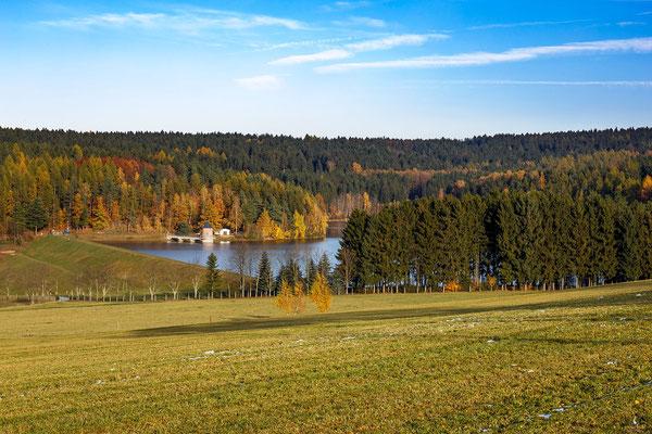 Blick auf die Talsperre Stollberg