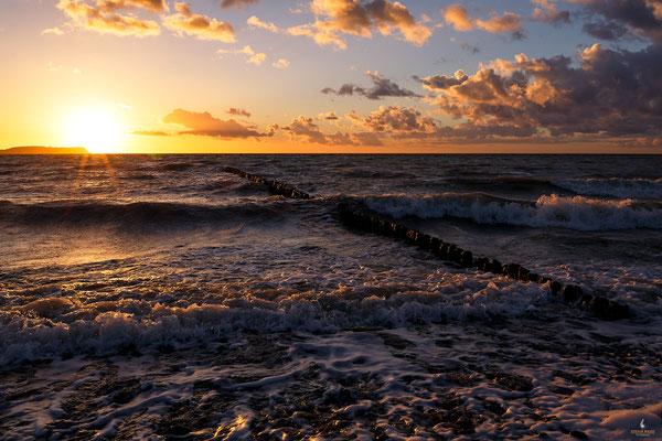 Sonnenuntergang in Dranske