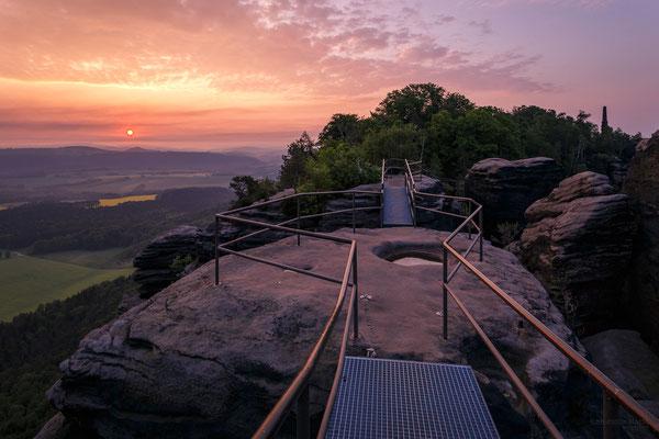 Sonnenaufgang auf dem Lilienstein