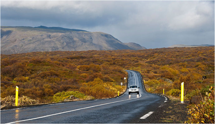 Island, auf dem Weg zwischen Geysir und Pingvellir