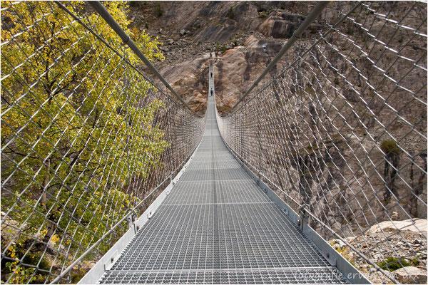 Riederalp, Hängebrücke über die Massaschlucht