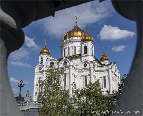 Moskau. Christi Erlöser Kathedrale