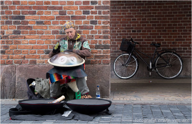 Strassenmusiker in Kopenhagen