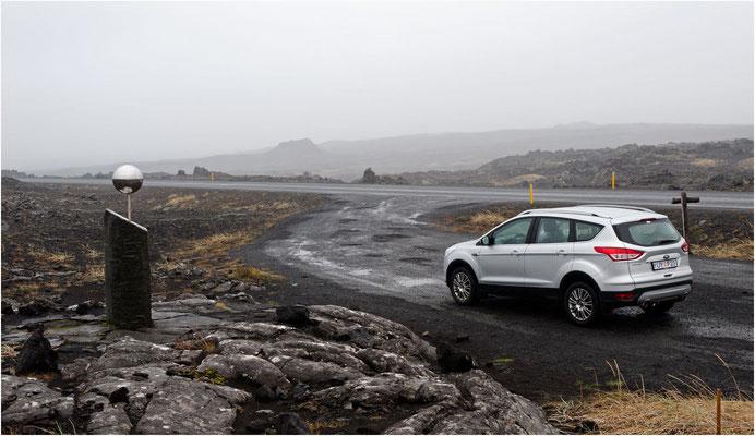 Island, letzte Tour vorbei an einem Planetenweg