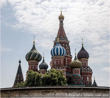Moskau, roter Platz.  Basilius-Kathedrale
