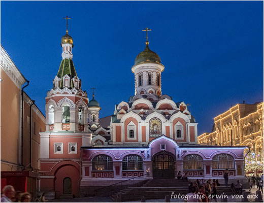 Moskau by night, roter Platz. Kasaner Kathedrale