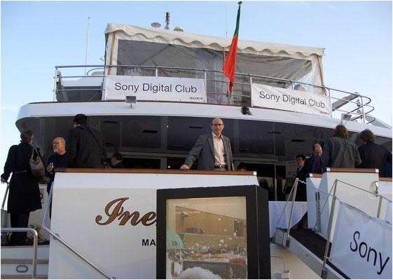 Party auf der Sony Yacht