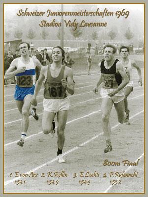Mein grösster Erfolg! Juniorenschweizermeister 1969 über 800m