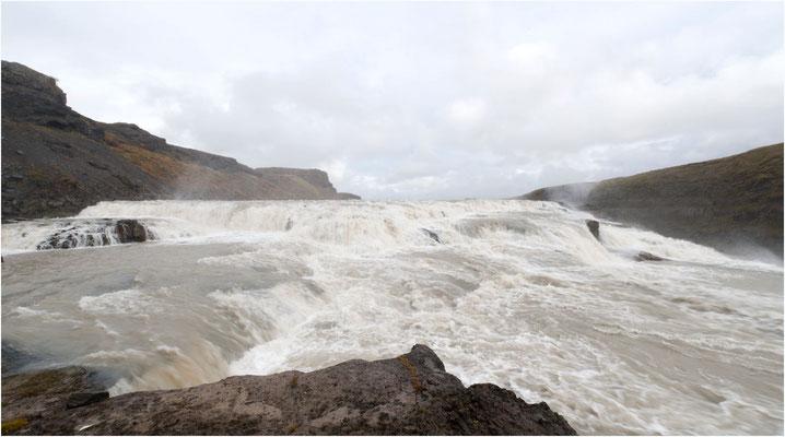 Island, Gullfoss, mitten drin