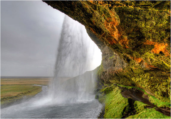 Island, Seljalandfoss, HDR-Bild