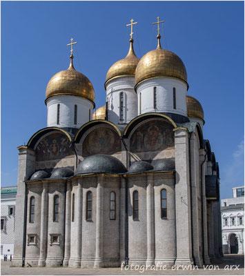 Moskau, Kremel. Die Mariä-Entschlafends-Kathedrale