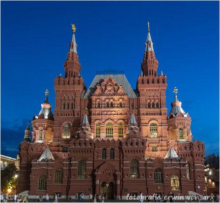 Moskau by night, roter Platz. Historisches Museum