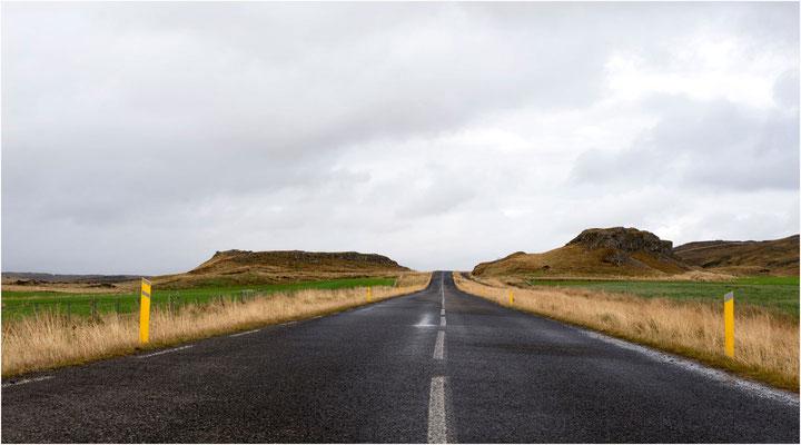 Island, immer schön der Linie nach