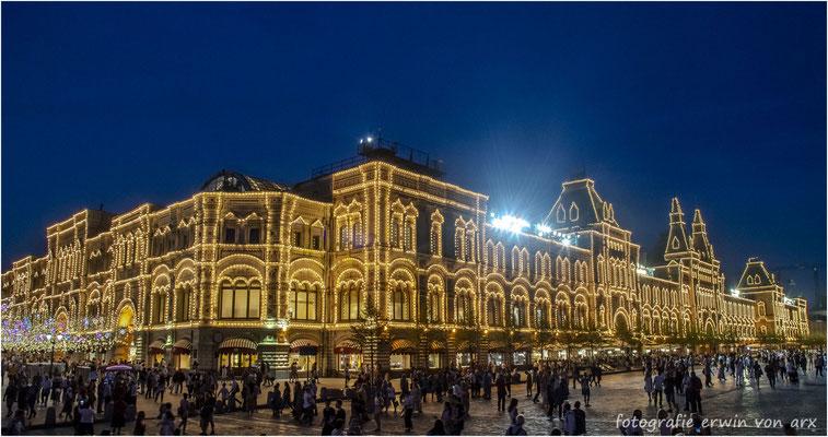 Moskau by night, roter Platz. GUM Einkaufszentrum
