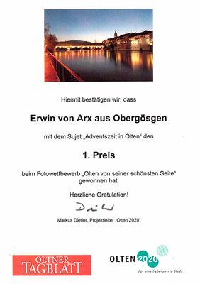 Adventszeit in Olten,  Oltner Holzbrücke