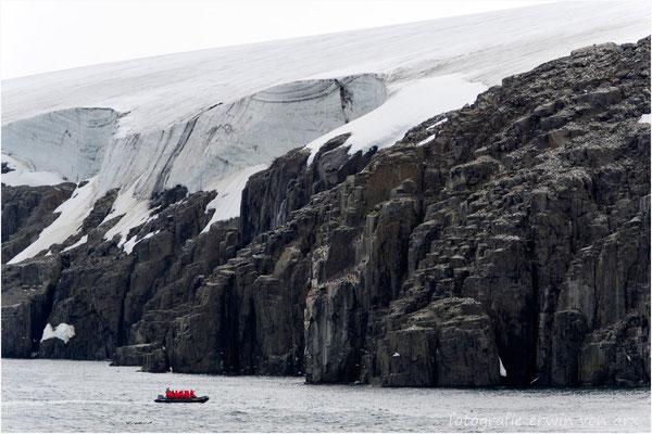 Es geht zum Alkefjellet mit den beindruckenden Basaltsäulen