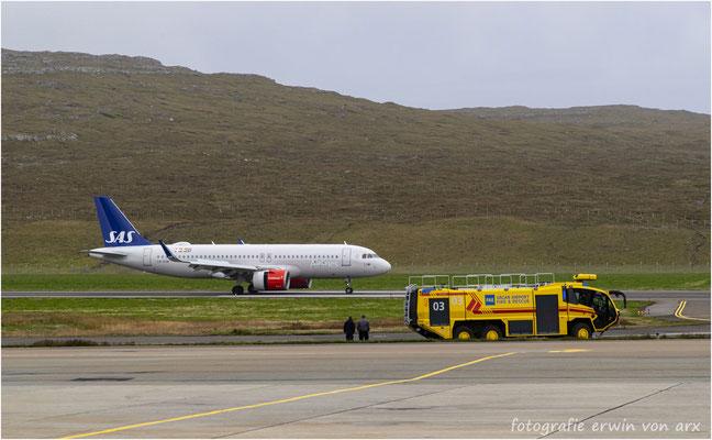 Landung der SAS-Maschine die uns wieder nach Kopenhagen bringt und von dort gehts weiter mit der SWISS nach Zürich