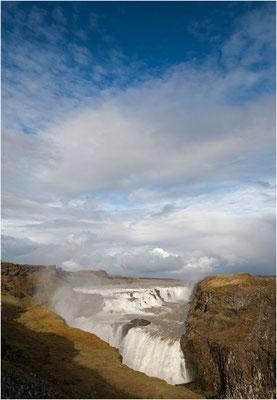 Island, Gullfoss bei Sonnenschein, 5 Minuten später regnete es wieder