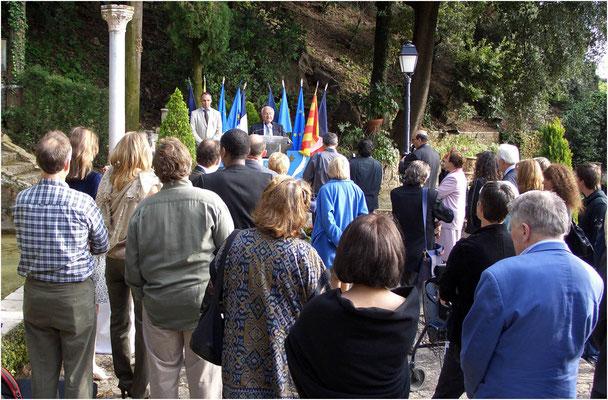 Empfang und Apéro in der Residenz des Bürgermeisters von Cannes